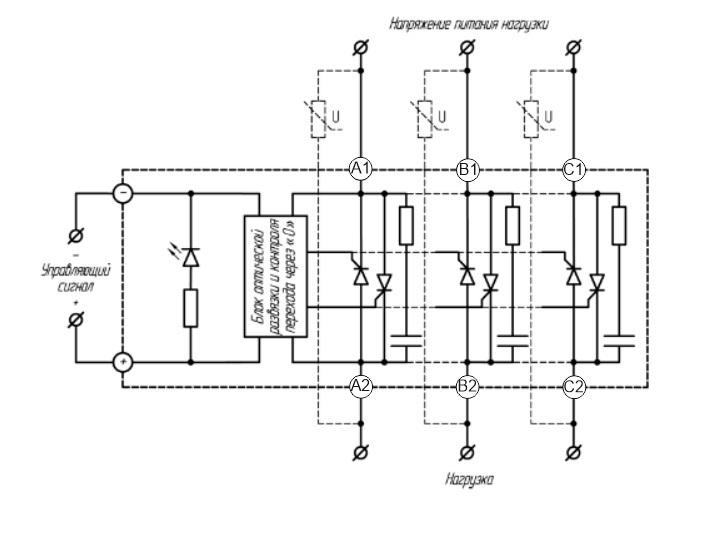 Подключение 3-х фазного твердотельного реле Ситирон